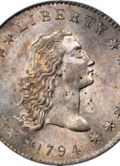 Самая дорогая в мире монета – «Доллар с развевающимися волосами» 1794 года
